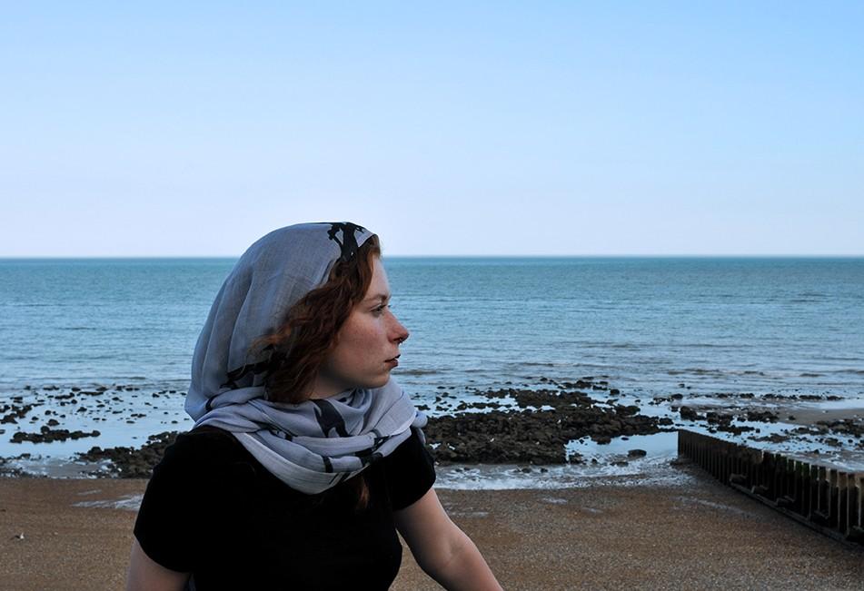 Razzor modal scarf design/image/photography ©Teresa Neal