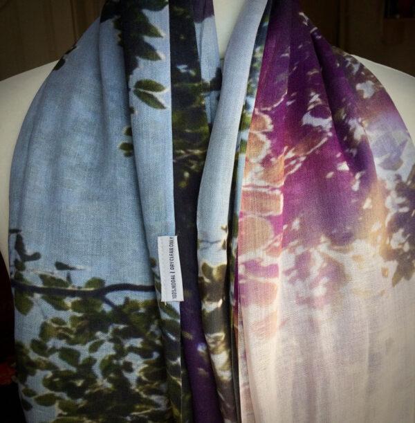 Light Fantastic modal scarf printed image © Teresa Neal