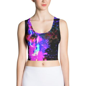 Printed crop top Teresa Neal