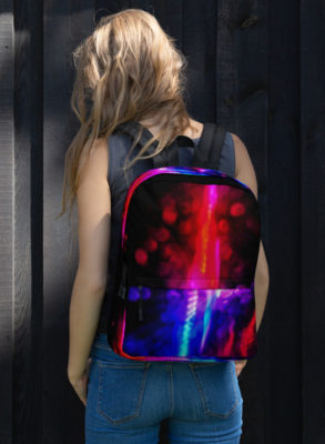 Neon print backpack
