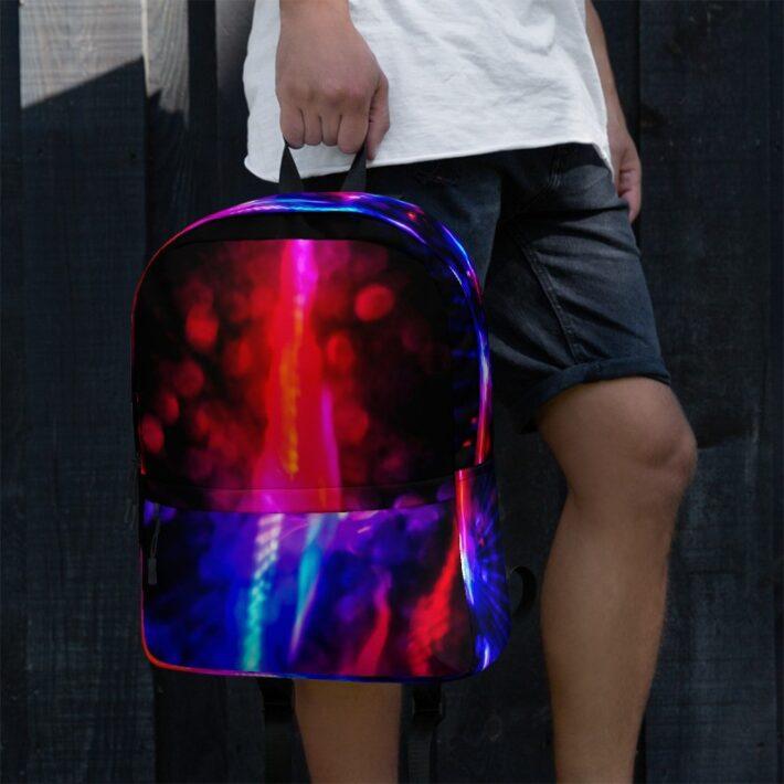 Neon Printed Backpack