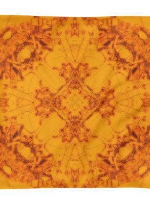 Orange cushion cover