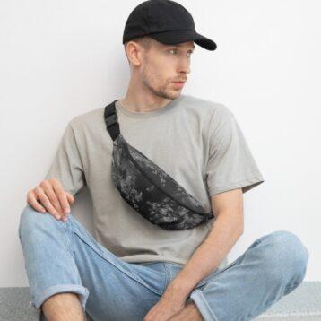 Noir print Bum Bag