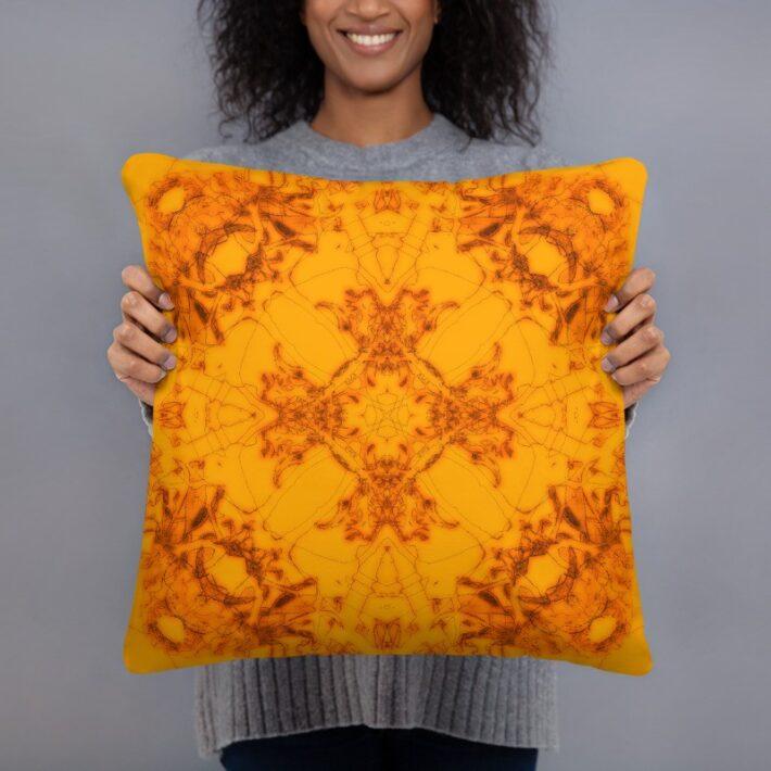 Original Print Throw Cushions - Orange Mandala